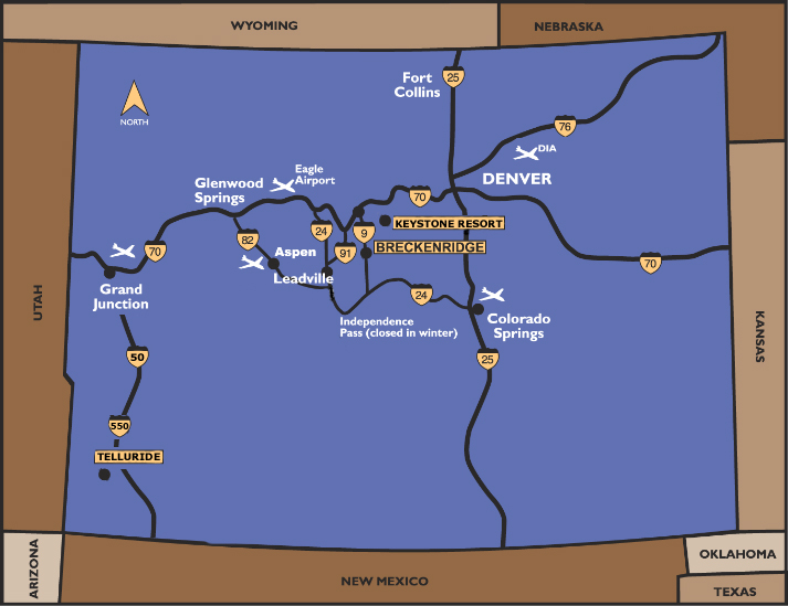 Skiing Colorado Map.Breckenridge Ski Shop Maps Peak Ski And Bike